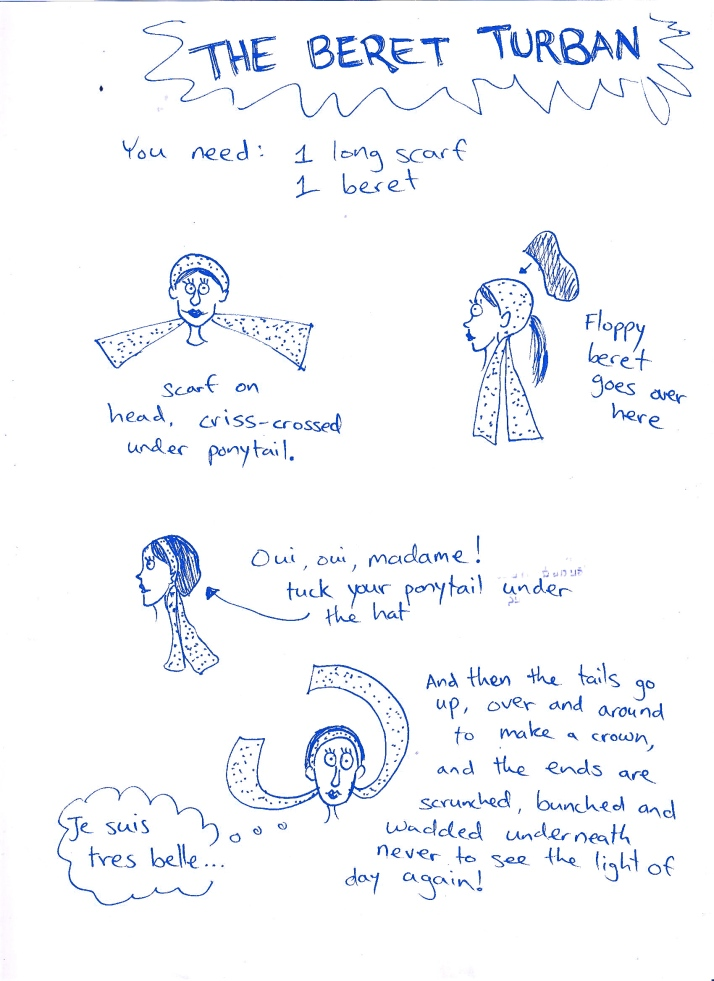wrapunzel the beret turban