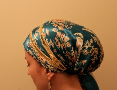 turquoise silk andrea grinberg wrapunzel scarf