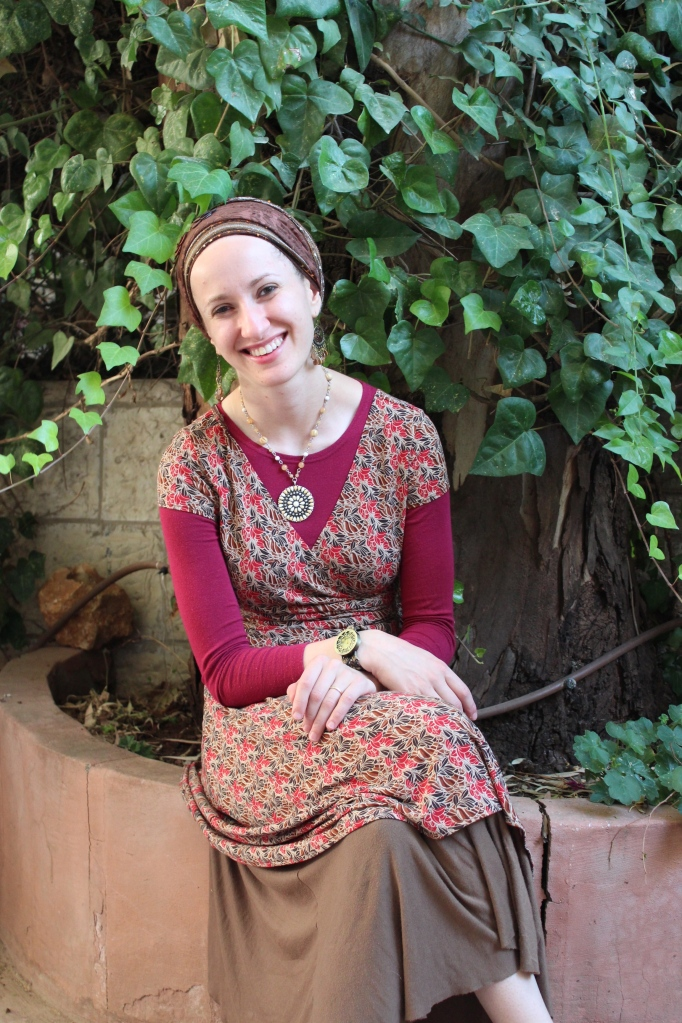 Smiling before Shabbat in Baka!  (This is my in law's back yard.)