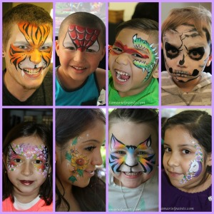 Face Paint Collage 8 frame