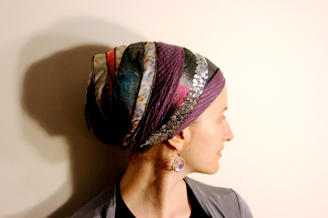 Wrapunzel Sari Scarf with Israeli Tichel and Sequin Headband
