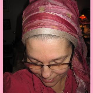 Pink Sari Front