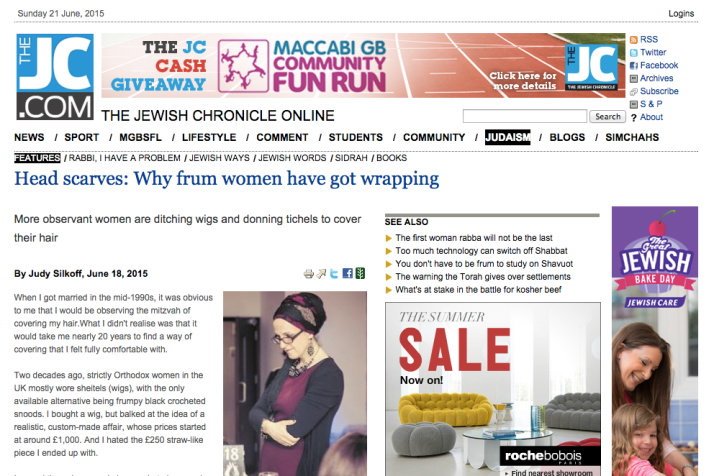 Jewish Chronicle Article Wrapunzel