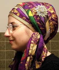 Sari Purple Gold