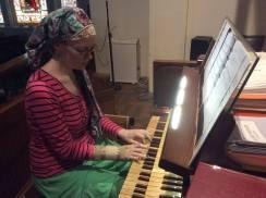 Organ practice!